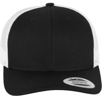 6606T  Retro Trucker 2-Tone Black/White