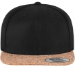 6089CO Kork Snapback Black
