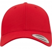 7706 Curved Classic Snapback Red